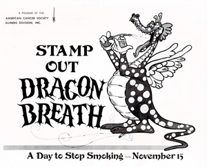 American Cancer Society 1979 anti-smoking Dragon Breath campaign