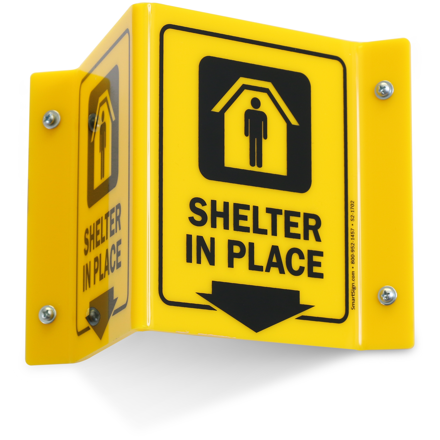 Shelter In Place Projecting Sign Sku S2 1702