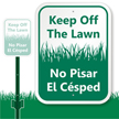 Keep Off Lawn Sign, No Pisar El Cesped