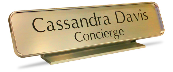 Military nameplates command attention. Mount them on your desk or wall.