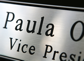 A large variety of name plate colors are available, including brushed aluminum!
