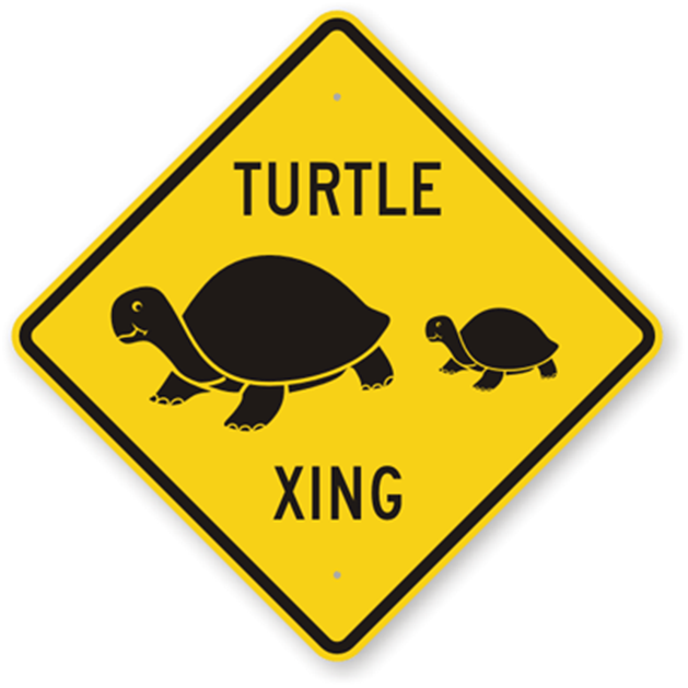Funny Turtle Xing Sign from RoadTrafficSigns.com