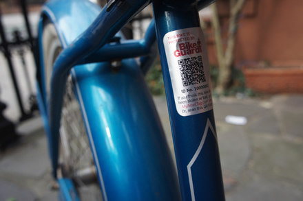 BikeGuard creates a bicycle registry with QR codes on asset tags