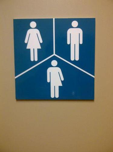 Male, female, and transgender bathroom sign