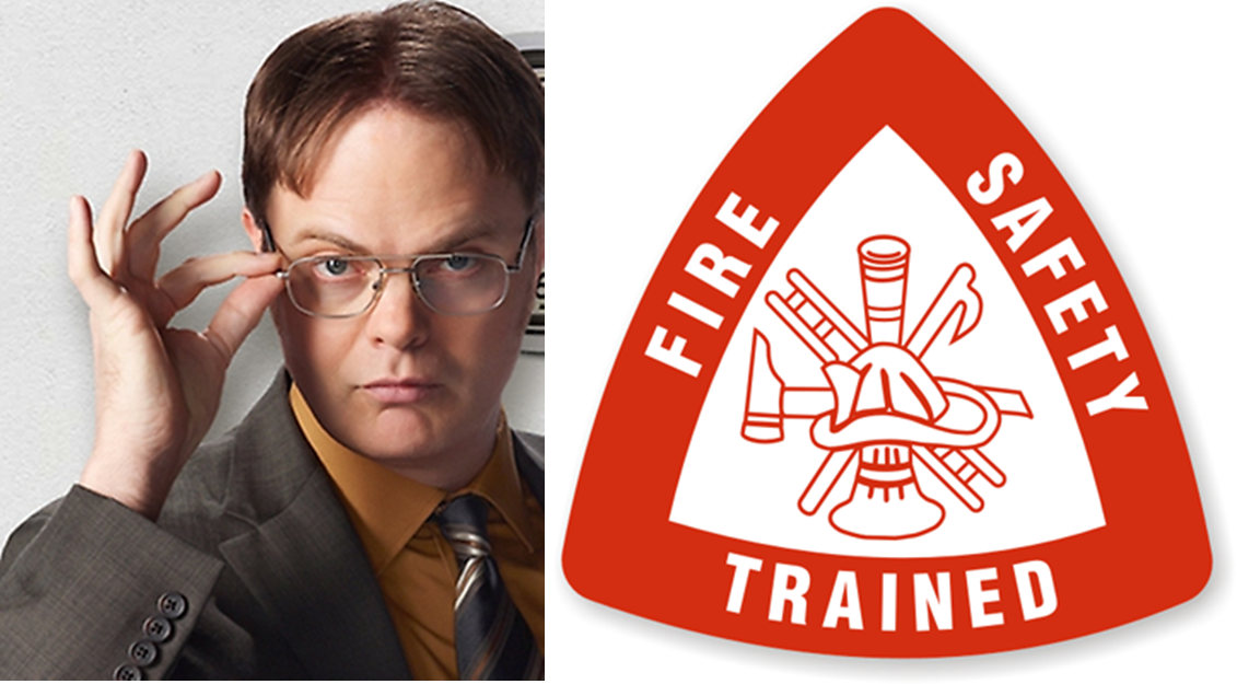 Dwight Schrute's office fire drill tested for OSHA safety
