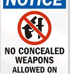 People Put Up Warning Signs as Concealed Carry Law Begins In Wisconsin