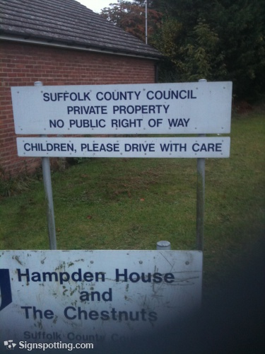 Funny sign: Children, please drive with care