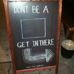 Bump in business? Chalk it up to funny sidewalk signs