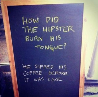 Hipster chalkboard Sidewalk Sign