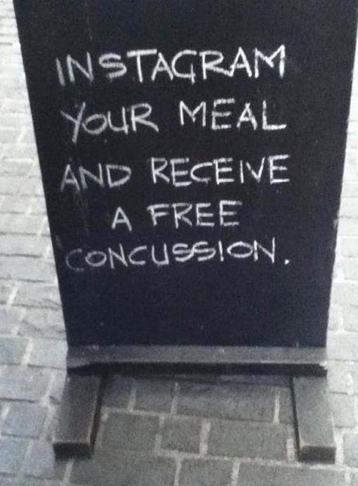 Instagram chalkboard Sidewalk Sign