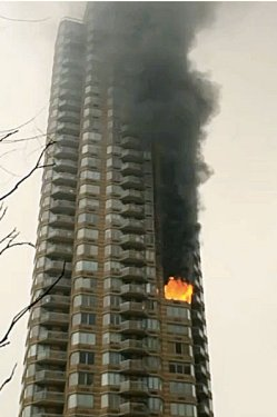 The fire in a non-combustible Hell's Kitchen high rise..