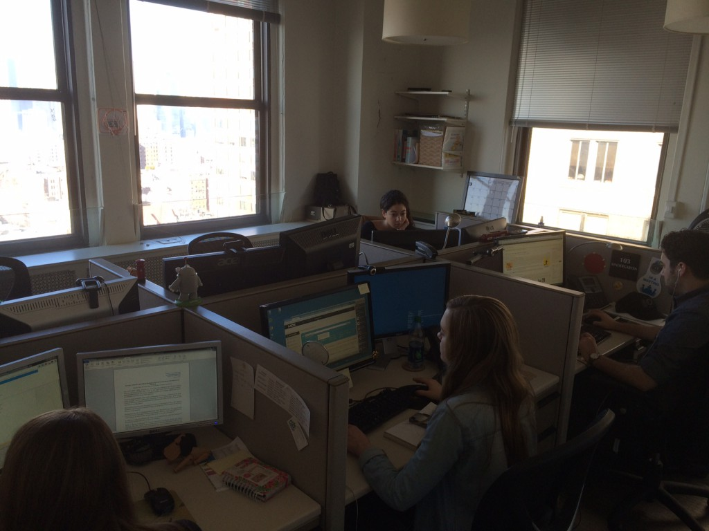 Some of the SmartSign marketing team busy at work.
