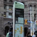 Toronto's new pedestrian wayfinding signage