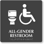 Regulatory notes: California requires all single restrooms to be gender-neutral