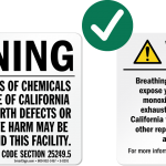 California updates Proposition 65 warnings for facilities