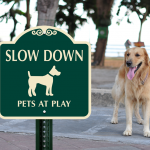 Designer Dogs at Play Signs Are Perfect Accessories for Pet Friendly Neighborhoods