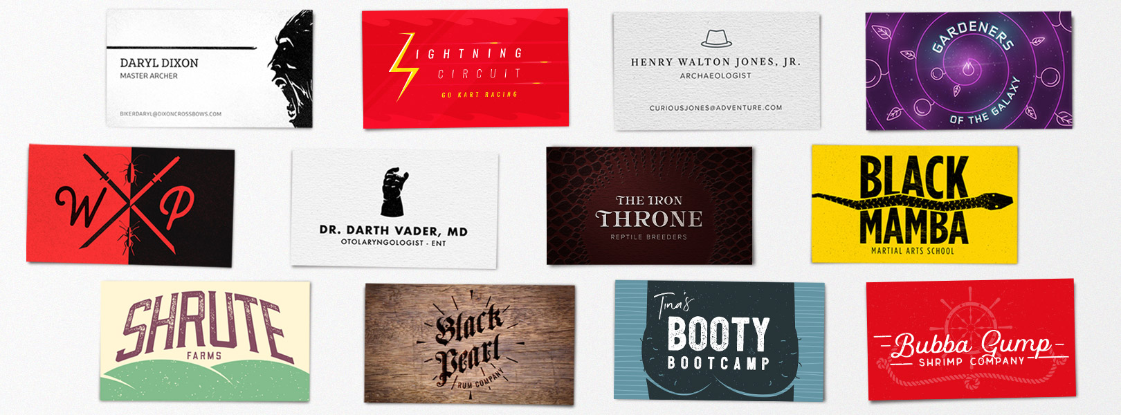 Business Cards for Pop Culture\'s Best Characters | SmartSign Blog