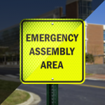 What is an evacuation assembly area?
