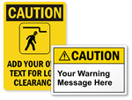 Custom Caution Labels