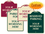 Custom Designer Parking Signs