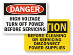 Electric Service Labels