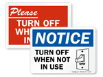 Turn Off Computer Labels