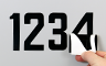 Laminated Self-Aligning Numbers and Letters