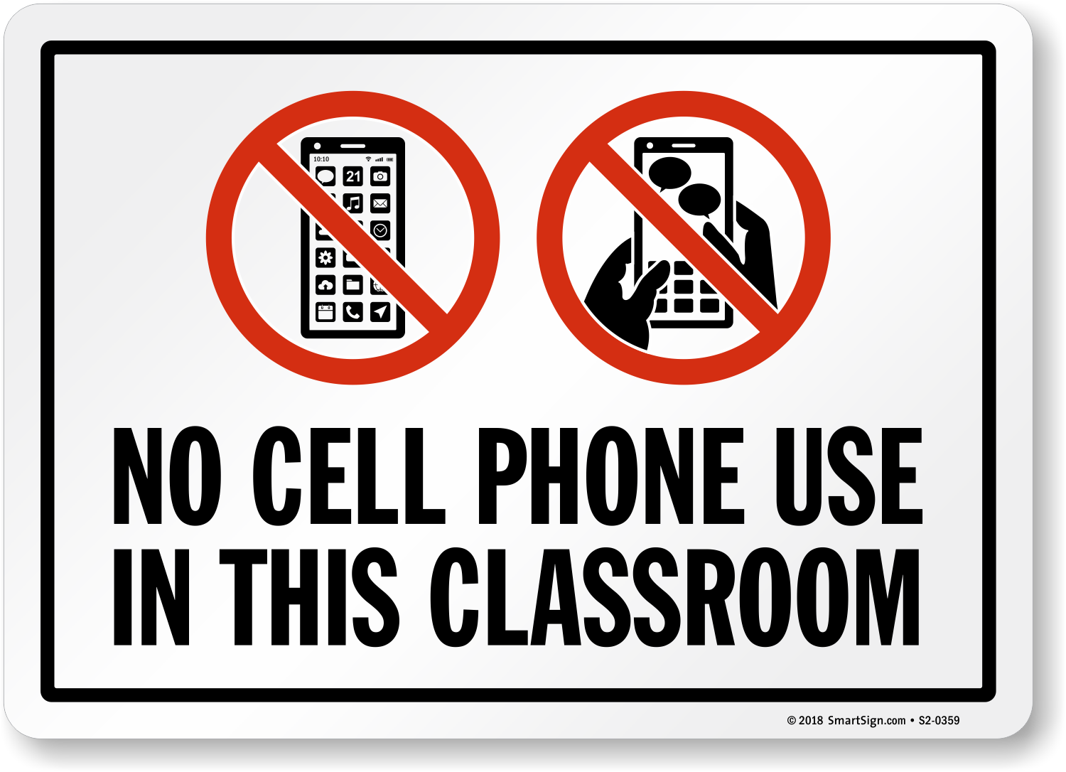 image regarding No Cellphone Sign Printable named no cellular telephones signal printable -