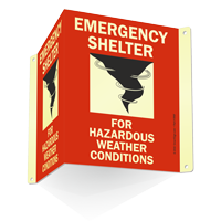 Emergency Shelter Weather Projecting Sign